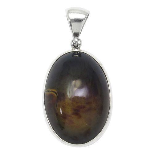 大勧め ブルーアンバー シルバーペンダントトップ スマトラ産 琥珀 天然石 パワーストーン プレゼント コハク シルバーペンダント, 超高品質で人気の 9d24b59d