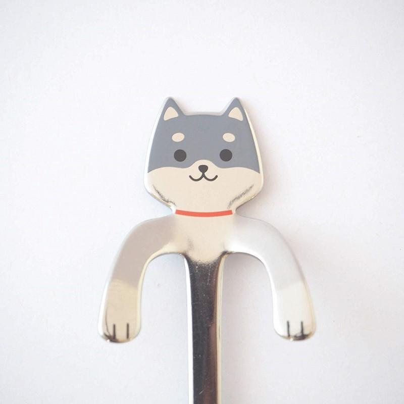 コーヒースプーン しばいぬ 黒しば 犬雑貨・犬グッズ・柴犬 ginya 02