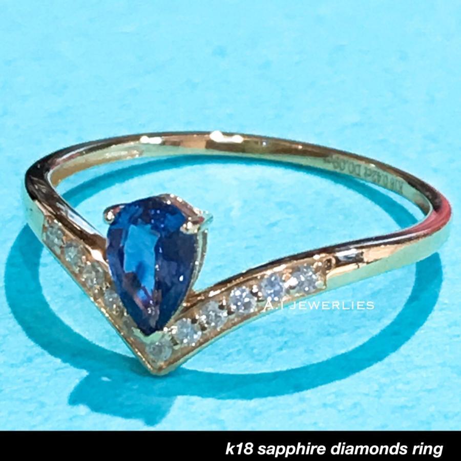 【国内即発送】 k18 天然石 sapphire リング 18金 天然 天然石 サファイア 天然 ダイアモンド 18金 リング/ k18 sapphire diamonds ring, 芦屋グレイス:2fb5c263 --- airmodconsu.dominiotemporario.com