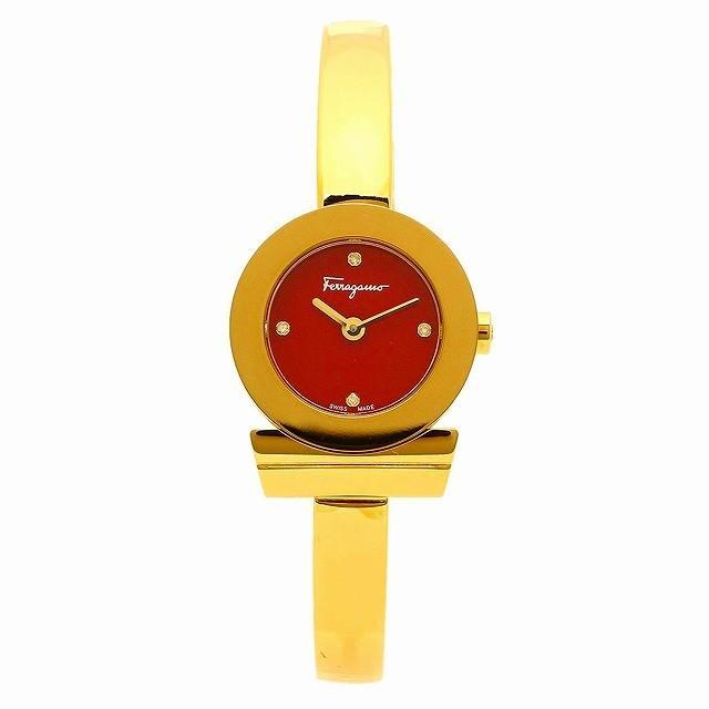 正規代理店 [フェラガモ] 腕時計 レディース Salvatore Ferragamo FQ5070015 レッド イエローゴールド [並行輸入品], wood which flows a7a4ce04