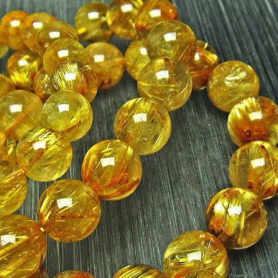 セール特価 ゴールドタイチンルチル ブレスレット 10mm t36-5288, 静岡県 f84f54c3