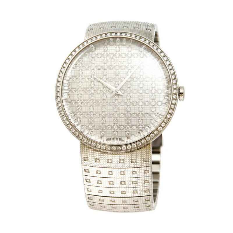 無料配達 【店内全品送料無料〜3/15】ディオール Dior 腕時計 ラ・ディ・ドゥ・ディオール シルバー 043111M003, グリズリー 2d10053c