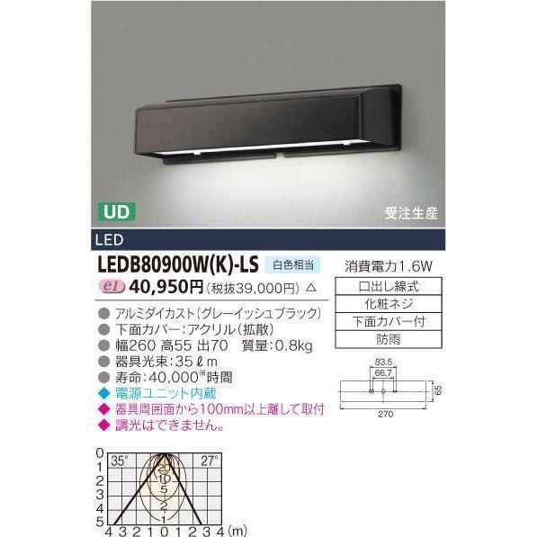 LED表示灯■1.6W■白色相当 LEDB80900W(K)-LS