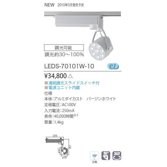 E-CORE LEDスポットライト 効率・演色性両立タイプ◆狭角タイプ 白色相当 LEDS-70101W-10