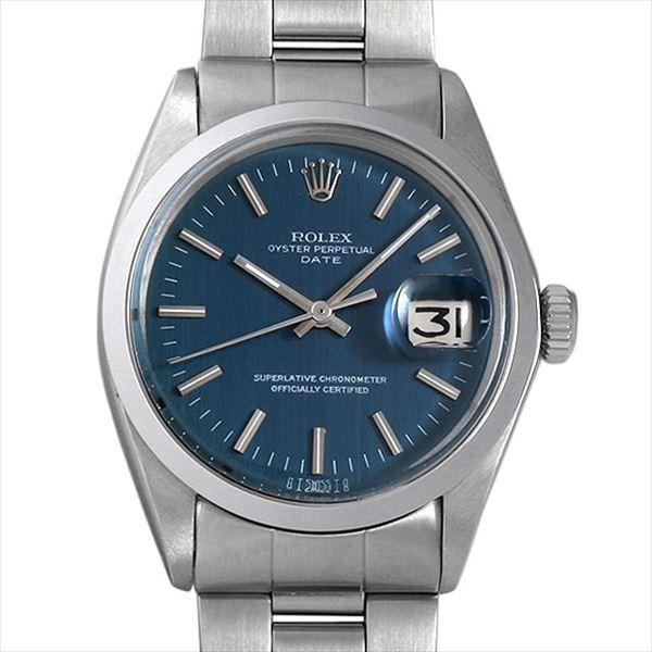 最高級 48回払いまで無金利 SALE ロレックス オイスターパーペチュアル デイト Cal.1570 25番 1500 ブルー/バー/シグマダイアル アンティーク メンズ 腕時計, 果樹王国ひがしねアンテナショップ 420e0da4