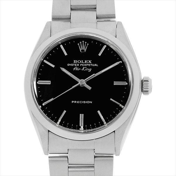 高価値 48回払いまで無金利 ロレックス オイスターパーペチュアル アンティーク エアキング 5500 ブラック ロレックス/バー ブラック/バー 37番 アンティーク メンズ 腕時計, エビス堂百貨店:eaf1ab0e --- airmodconsu.dominiotemporario.com