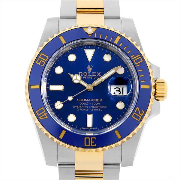 【美品】 48回払いまで無金利 SALE ロレックス サブマリーナ デイト 116613LB ブルー ランダムシリアル  メンズ 腕時計, タカオカシ be2a1960