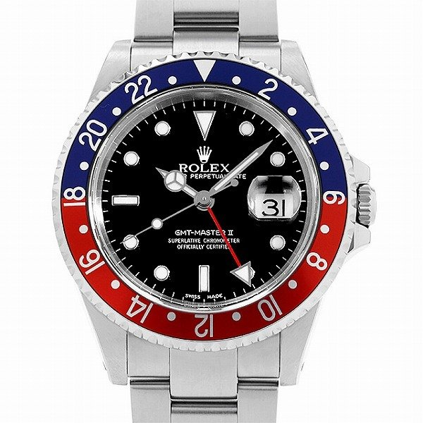 人気定番 48回払いまで無金利 ロレックス GMTマスターII 赤青ベゼル 16710 A番  メンズ 腕時計, クロノコーポレーション f4b1bb6a
