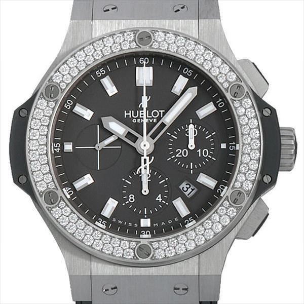 60回払いまで無金利 ウブロ ビッグバン アールグレイ ダイヤモンド 301.ST.5020.GR.1104 中古 メンズ 腕時計|ginzarasin