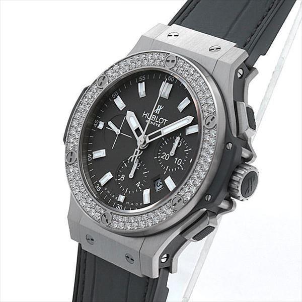 60回払いまで無金利 ウブロ ビッグバン アールグレイ ダイヤモンド 301.ST.5020.GR.1104 中古 メンズ 腕時計|ginzarasin|02