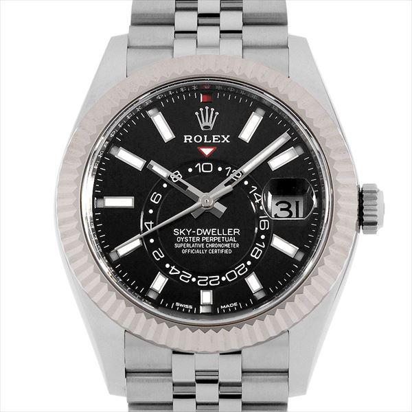 柔らかい 48回払いまで無金利 SALE ロレックス スカイドゥエラー ブラック 326934 ブラック メンズ メンズ ロレックス 腕時計, マカベマチ:564ed037 --- airmodconsu.dominiotemporario.com