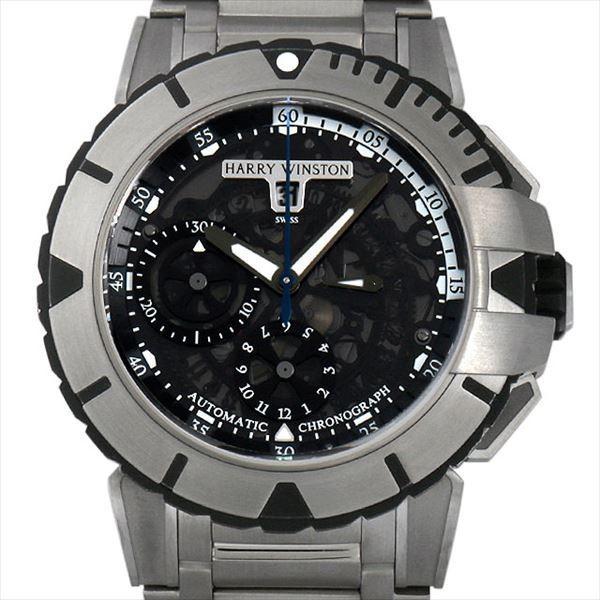 最低価格の 48回払いまで無金利 SALE ハリーウィンストン オーシャン スポーツ クロノグラフ 411/MCA44ZZ.K  メンズ 腕時計, 古賀市 2bbabd36