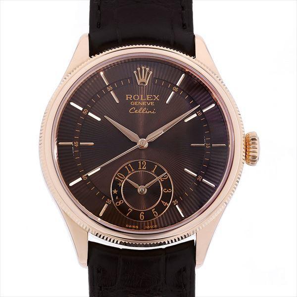 2018セール 48回払いまで無金利 ロレックス チェリーニ デュアルタイム 50525 ブラウン  メンズ 腕時計, バカラ名入れ フローレンス芦屋 0f6e1d34