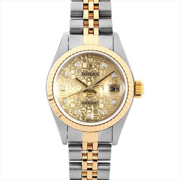 全ての 48回払いまで無金利 ロレックス デイトジャスト 10Pダイヤ 79173G シャンパン彫りコンピューター K番  レディース 腕時計, 西尾市 b3eeedd6