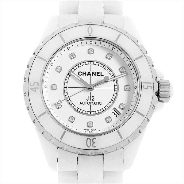 世界的に 48回払いまで無金利 シャネル シャネル メンズ J12 白セラミック H1629 12Pダイヤ H1629 メンズ 腕時計, 厨房用品のプロショップ ナガヨ:7091dc0c --- airmodconsu.dominiotemporario.com