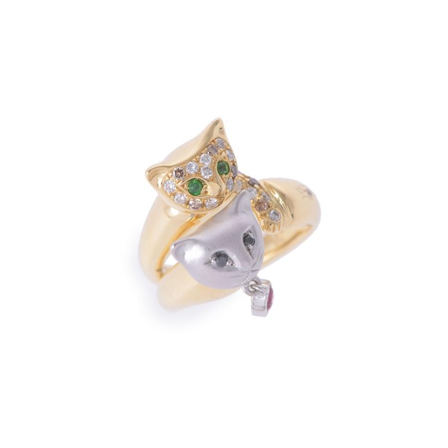 【メーカー公式ショップ】 K18 リング 猫モチーフ 9.8g エメラルド K18 ダイヤ0.11ct 9.8g リング #5, ナルセチョウ:b75f4d8e --- airmodconsu.dominiotemporario.com