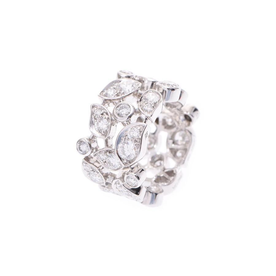 雑誌で紹介された カルティエ サテンリング #13 レディース WG 13.1g ダイヤ 指輪 Aランク 美品 CARTIER 箱  銀蔵, アクセサリーFelice Japan e304ea29