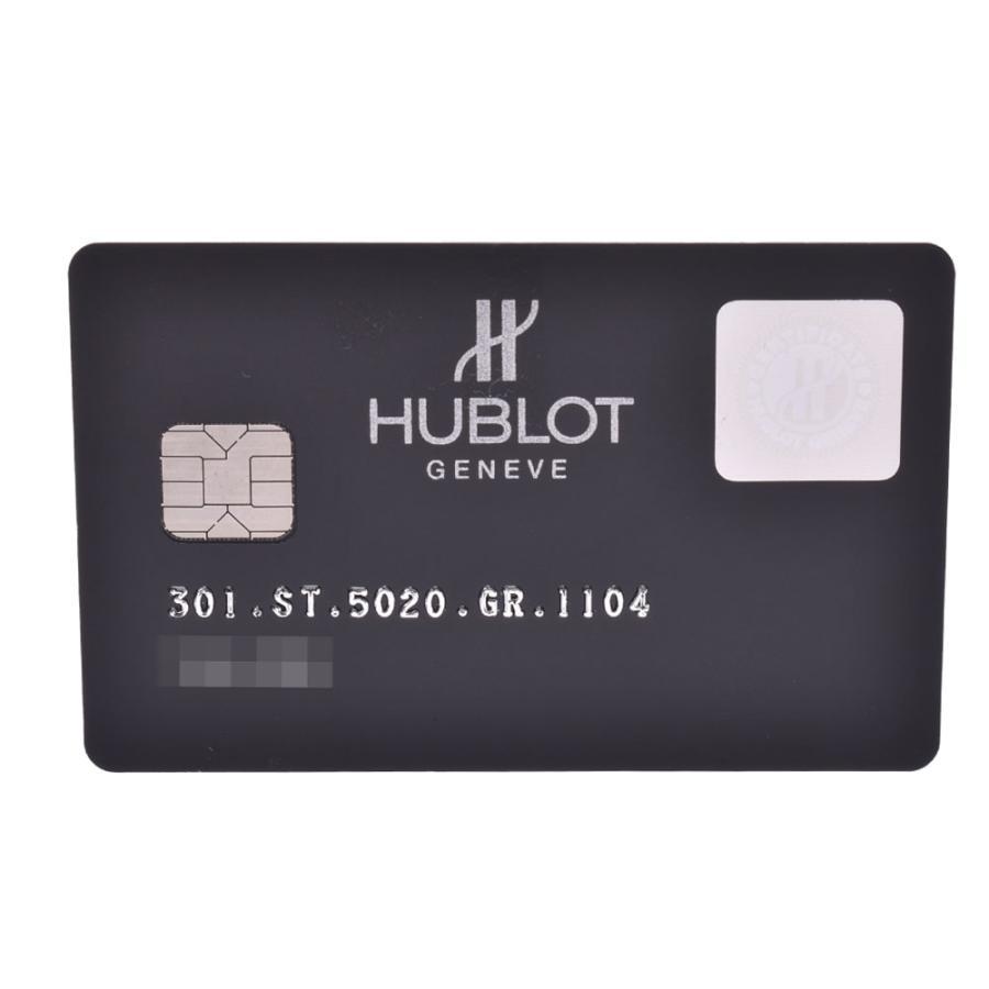 HUBLOT ウブロ アールグレイダイヤモンド  ビックバン 301.ST.5020.GR.1104 メンズ SS/ラバー/レザー 腕時計 自動巻き グレー文字盤 Aランク 中古 銀蔵|ginzo1116|02