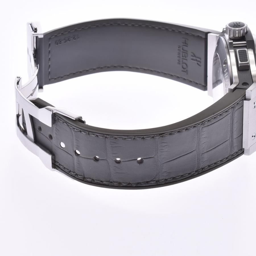 HUBLOT ウブロ アールグレイダイヤモンド  ビックバン 301.ST.5020.GR.1104 メンズ SS/ラバー/レザー 腕時計 自動巻き グレー文字盤 Aランク 中古 銀蔵|ginzo1116|11