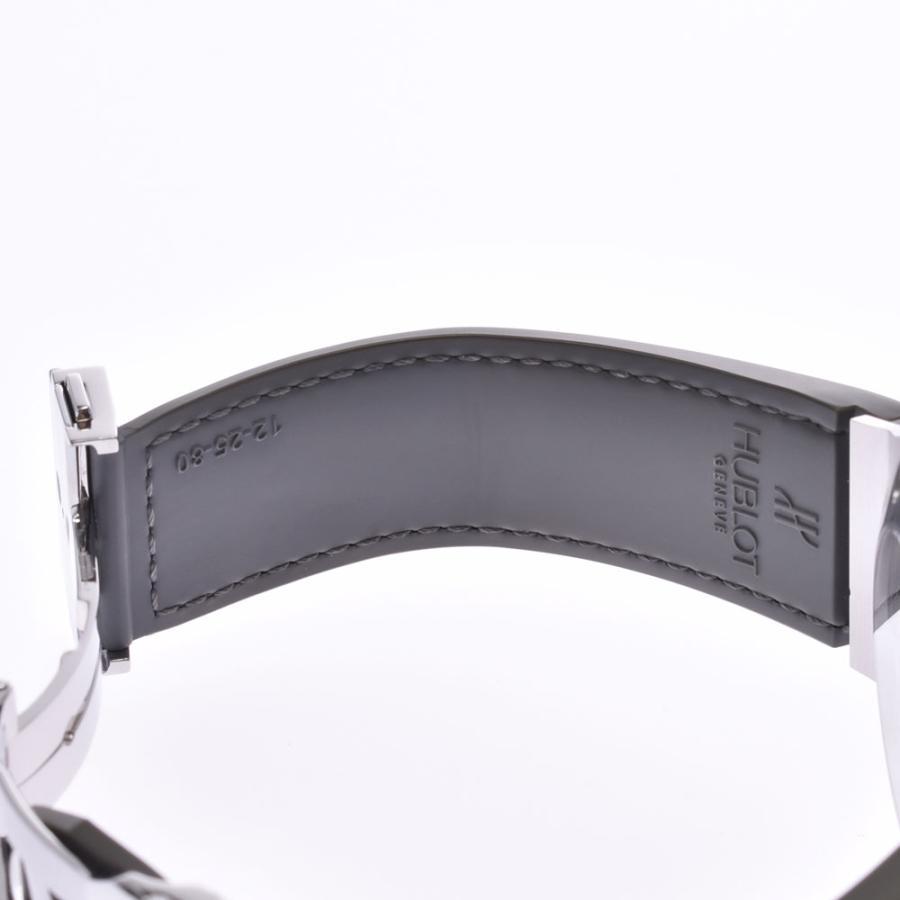 HUBLOT ウブロ アールグレイダイヤモンド  ビックバン 301.ST.5020.GR.1104 メンズ SS/ラバー/レザー 腕時計 自動巻き グレー文字盤 Aランク 中古 銀蔵|ginzo1116|12