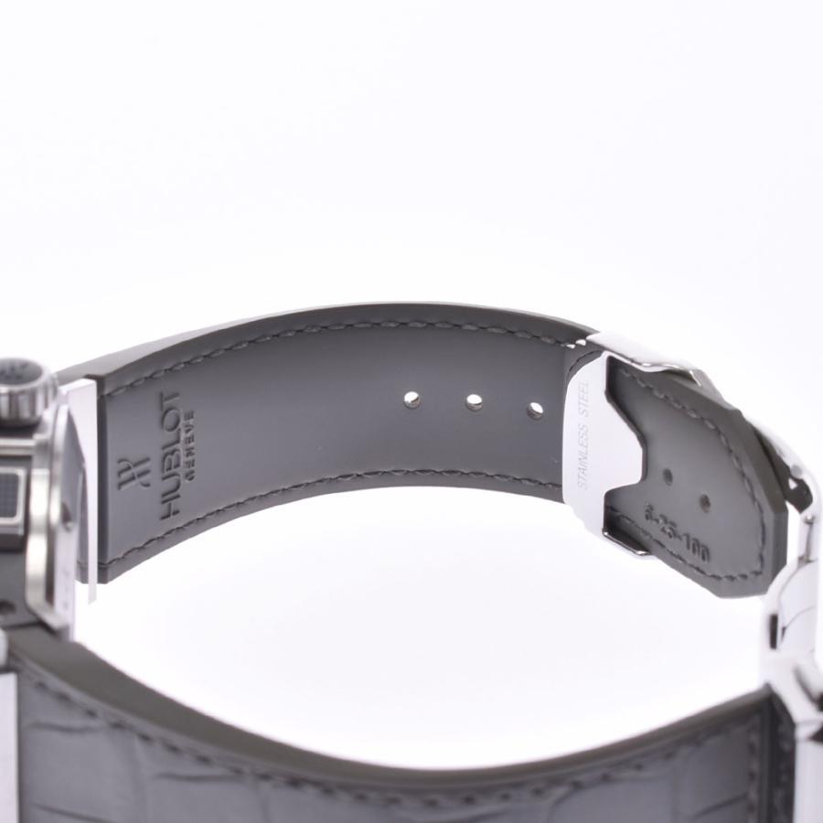 HUBLOT ウブロ アールグレイダイヤモンド  ビックバン 301.ST.5020.GR.1104 メンズ SS/ラバー/レザー 腕時計 自動巻き グレー文字盤 Aランク 中古 銀蔵|ginzo1116|13