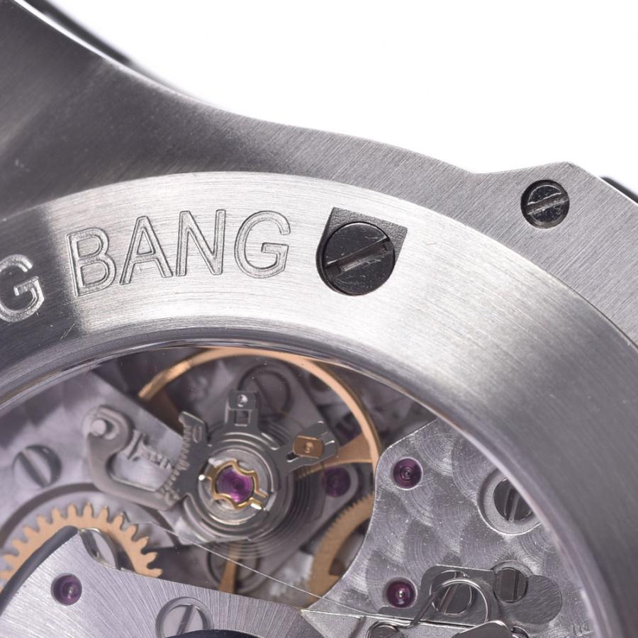 HUBLOT ウブロ アールグレイダイヤモンド  ビックバン 301.ST.5020.GR.1104 メンズ SS/ラバー/レザー 腕時計 自動巻き グレー文字盤 Aランク 中古 銀蔵|ginzo1116|15