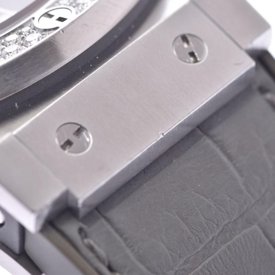 HUBLOT ウブロ アールグレイダイヤモンド  ビックバン 301.ST.5020.GR.1104 メンズ SS/ラバー/レザー 腕時計 自動巻き グレー文字盤 Aランク 中古 銀蔵|ginzo1116|17