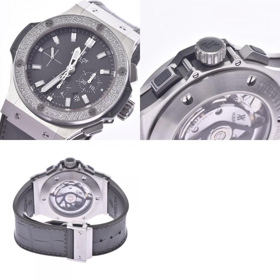 HUBLOT ウブロ アールグレイダイヤモンド  ビックバン 301.ST.5020.GR.1104 メンズ SS/ラバー/レザー 腕時計 自動巻き グレー文字盤 Aランク 中古 銀蔵|ginzo1116|20