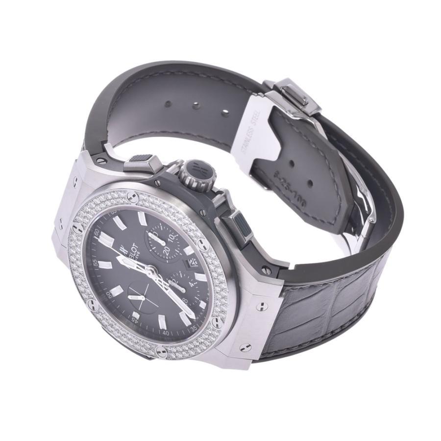 HUBLOT ウブロ アールグレイダイヤモンド  ビックバン 301.ST.5020.GR.1104 メンズ SS/ラバー/レザー 腕時計 自動巻き グレー文字盤 Aランク 中古 銀蔵|ginzo1116|04