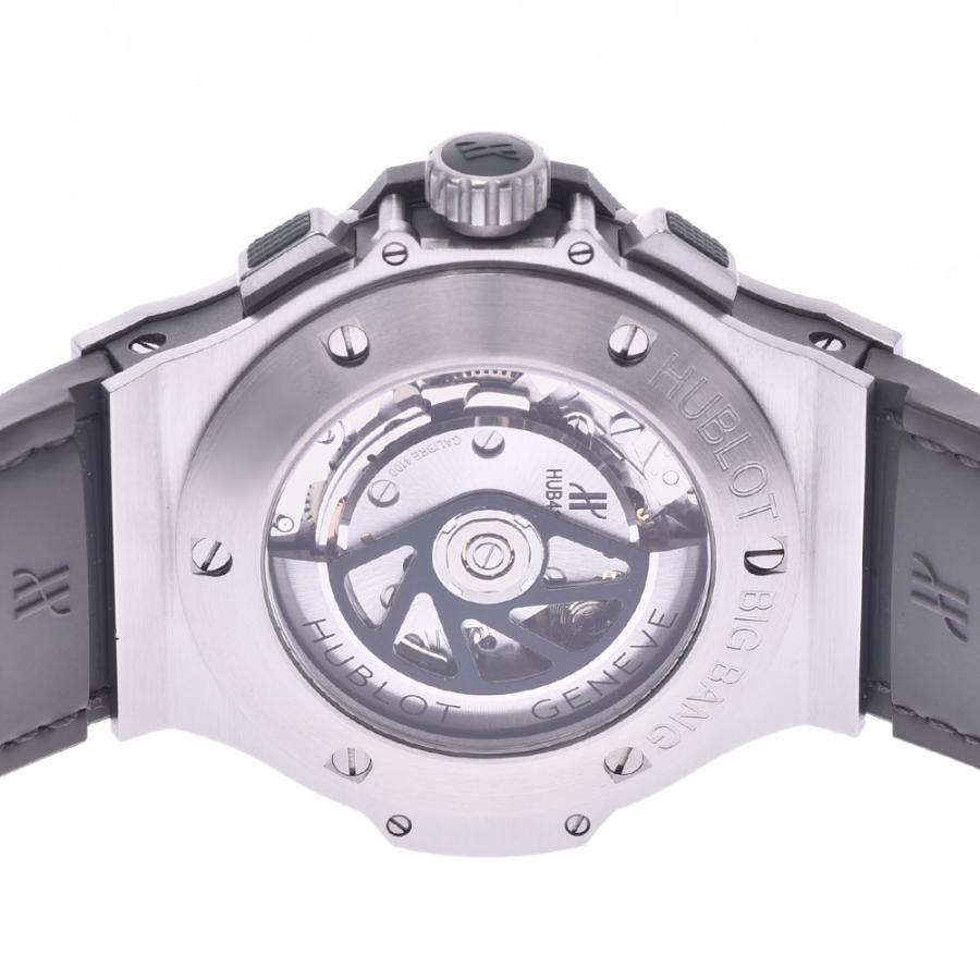HUBLOT ウブロ アールグレイダイヤモンド  ビックバン 301.ST.5020.GR.1104 メンズ SS/ラバー/レザー 腕時計 自動巻き グレー文字盤 Aランク 中古 銀蔵|ginzo1116|05