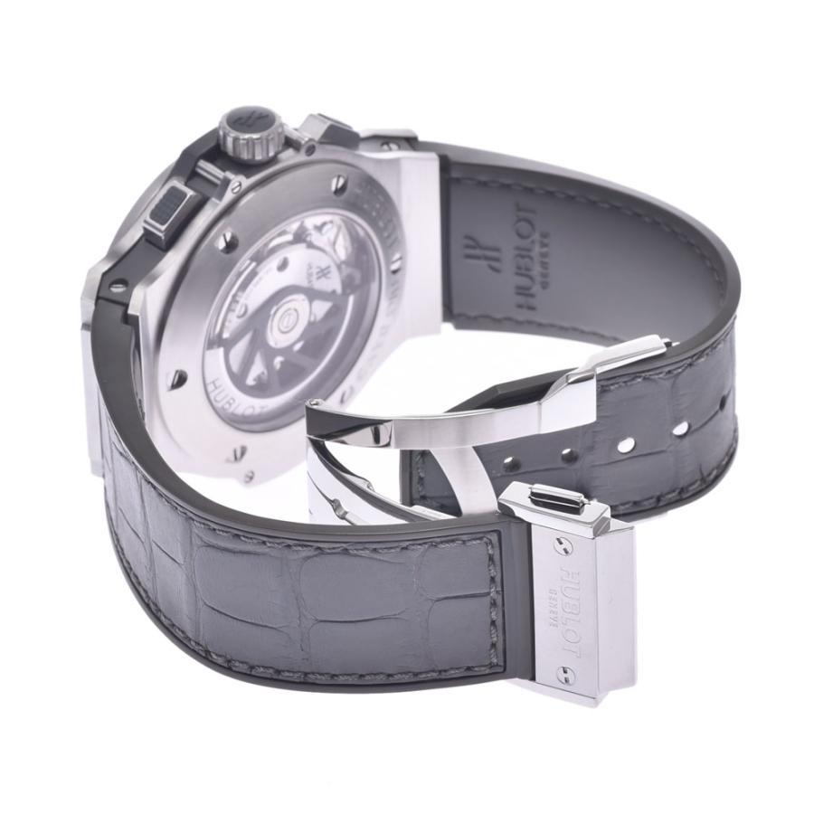 HUBLOT ウブロ アールグレイダイヤモンド  ビックバン 301.ST.5020.GR.1104 メンズ SS/ラバー/レザー 腕時計 自動巻き グレー文字盤 Aランク 中古 銀蔵|ginzo1116|06