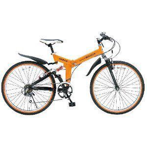 「メーカー直送」M-670-OR MY PALLAS(マイパラス) 26型折畳マウンテンバイク オレンジ