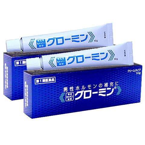グローミン軟膏 10g×2本入 男性ホルモン精力剤・更年期障害・ED治療薬
