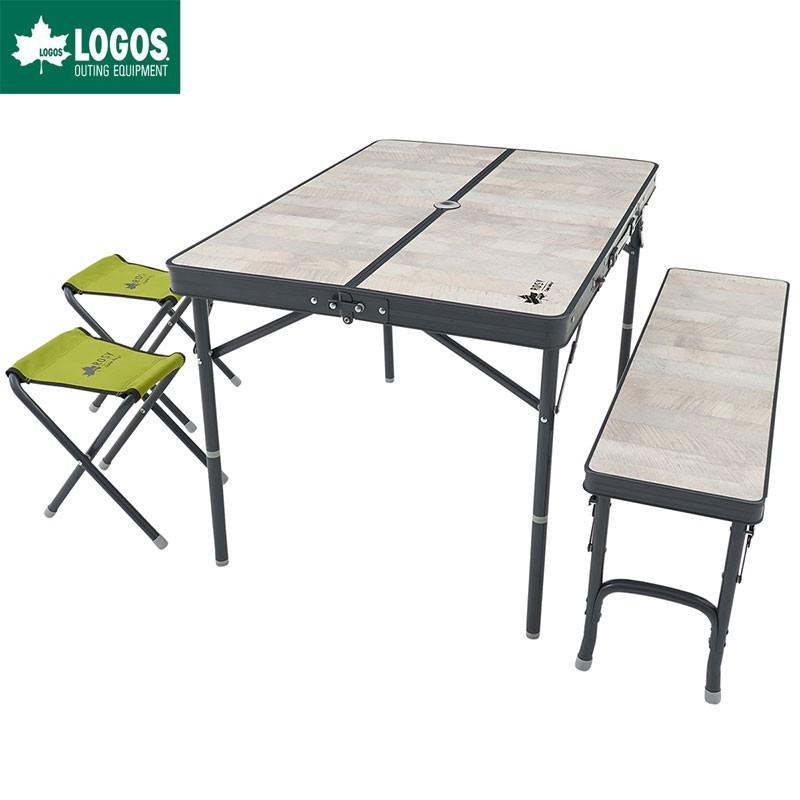 LOGOS ロゴス アウトドア 木 ROSY ファミリー ベンチ テーブルセット 4人用