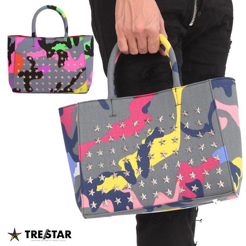 TRE☆STAR トレスター キャンバス トートバッグ クレイジーカモ Sサイズ