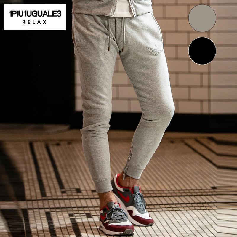 1PIU1UGUALE3 RELAX ウノピゥウノウグァーレトレ リラックス ラインストーンロングパンツ