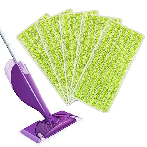 KEEPOW Reusable Mop Pads Compatible with Swiffer Wet Jet Replacement Microf