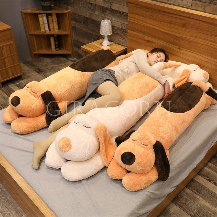 子犬 ぬいぐるみ 添い寝枕 枕 円柱 抱き枕 おもちゃ 子供 可愛い ぐるみ もちゃ クッション 床ごこち だきまくらぬいぐるみ 大きい癒し極上肌触り 柔らかい