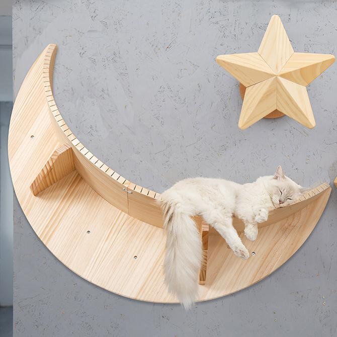 猫 キャットステップ キャットウォーク 壁付け 壁掛け MYZOO マイズー Luna キャットステップ