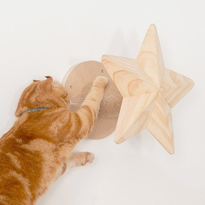 猫 キャットステップ キャットウォーク 壁付け 壁掛け MYZOO マイズー Twinkle Star キャットステップ 爪とぎ