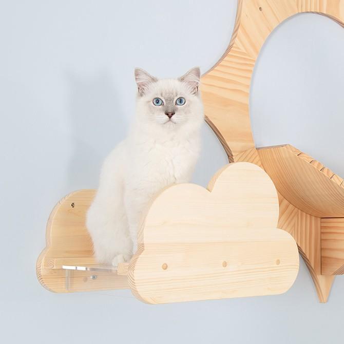 猫 キャットステップ キャットウォーク 壁付け 壁掛け MYZOO マイズー Moku キャットステップ