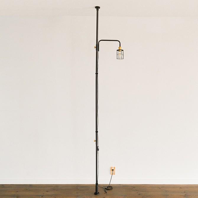 突っ張り棒 つっぱり棒 おしゃれ セット 伸縮 ドローアライン DRAW A LINE ロッドC+ランプアームS+ワイヤーシェード セット