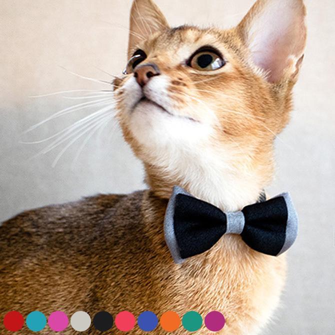 猫 首輪 おしゃれ かわいい ギフト necono ネコノ 猫の首輪 Luce Ribbon dauble ルーチェ リボン ダブル