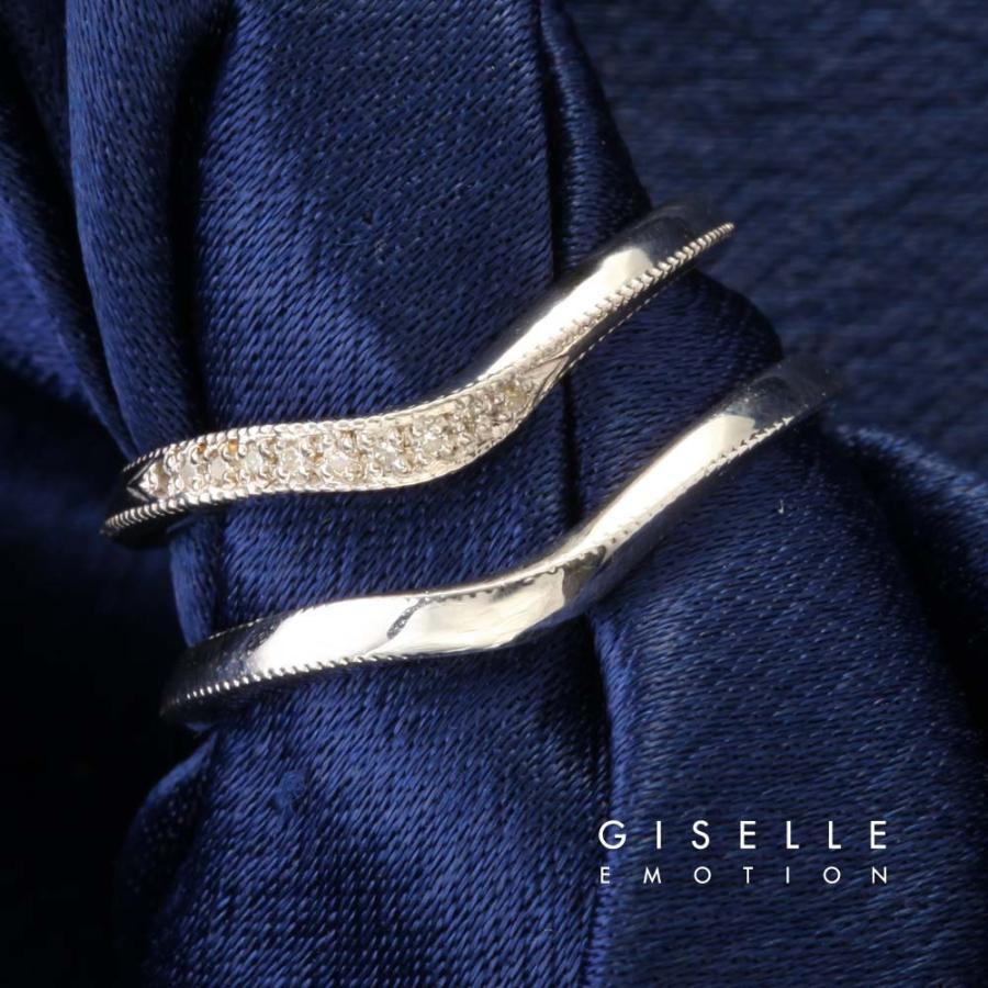 結婚指輪 10大特典あり マリッジリング10金ホワイトゴールド(2211-4236)