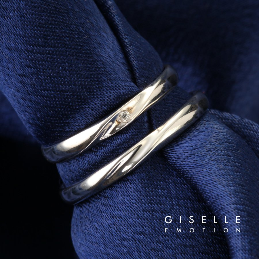 結婚指輪 10大特典あり マリッジリング18金ホワイトゴールド(2211-4243)
