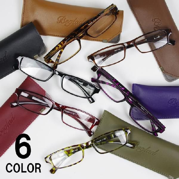 老眼鏡 おしゃれ 女性用 男性用 BGT1009 シニアグラス メガネケース付き 度数 1.0-3.0 エレガント コンパクト 携帯