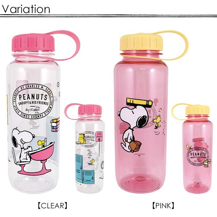 Peanuts Snoopy Two Tone Plastic Bottle Cover Case Green