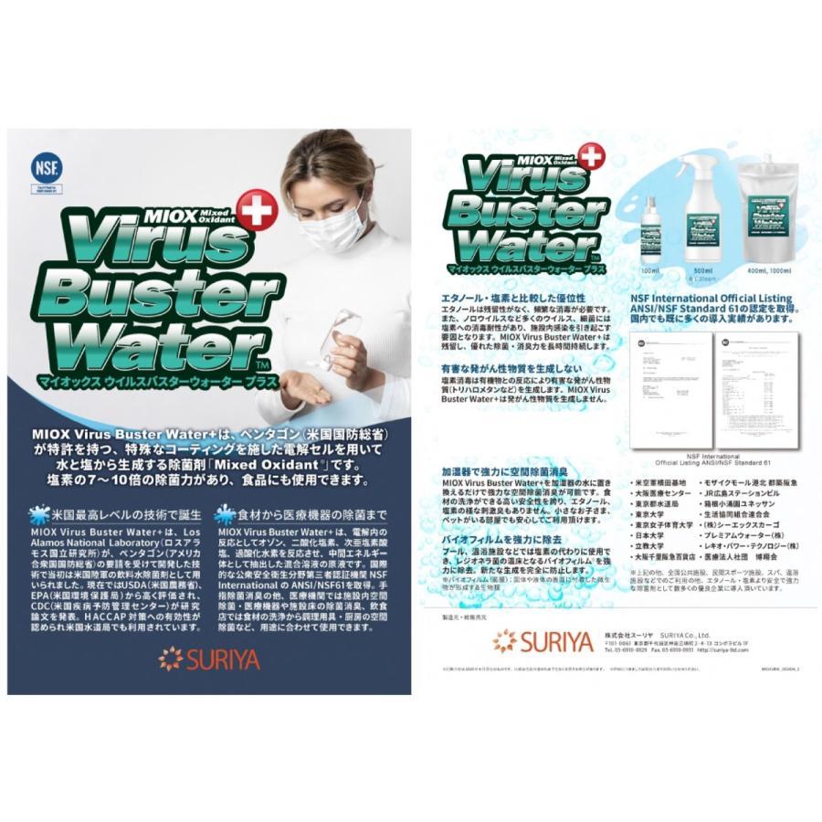 MIOX Virus Buster Water +(Plus) ウィルスバスターウォータープラス ハンディスプレーボトル(携帯用ミニスプレー) 20ppm 100ml|gitoh-shop|04