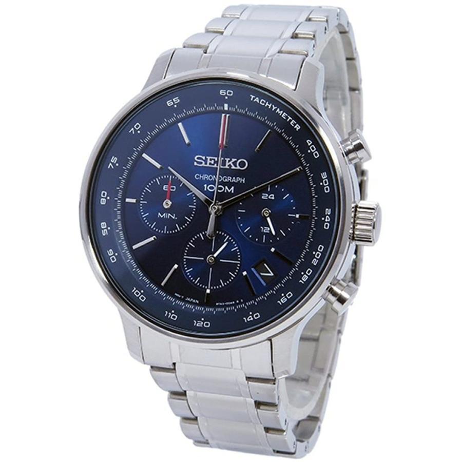 [セイコー]SEIKO ブルー 100m防水 クロノグラフ メーカー純正箱入り 腕時計 SSB163P1 メンズ [並行輸入品]
