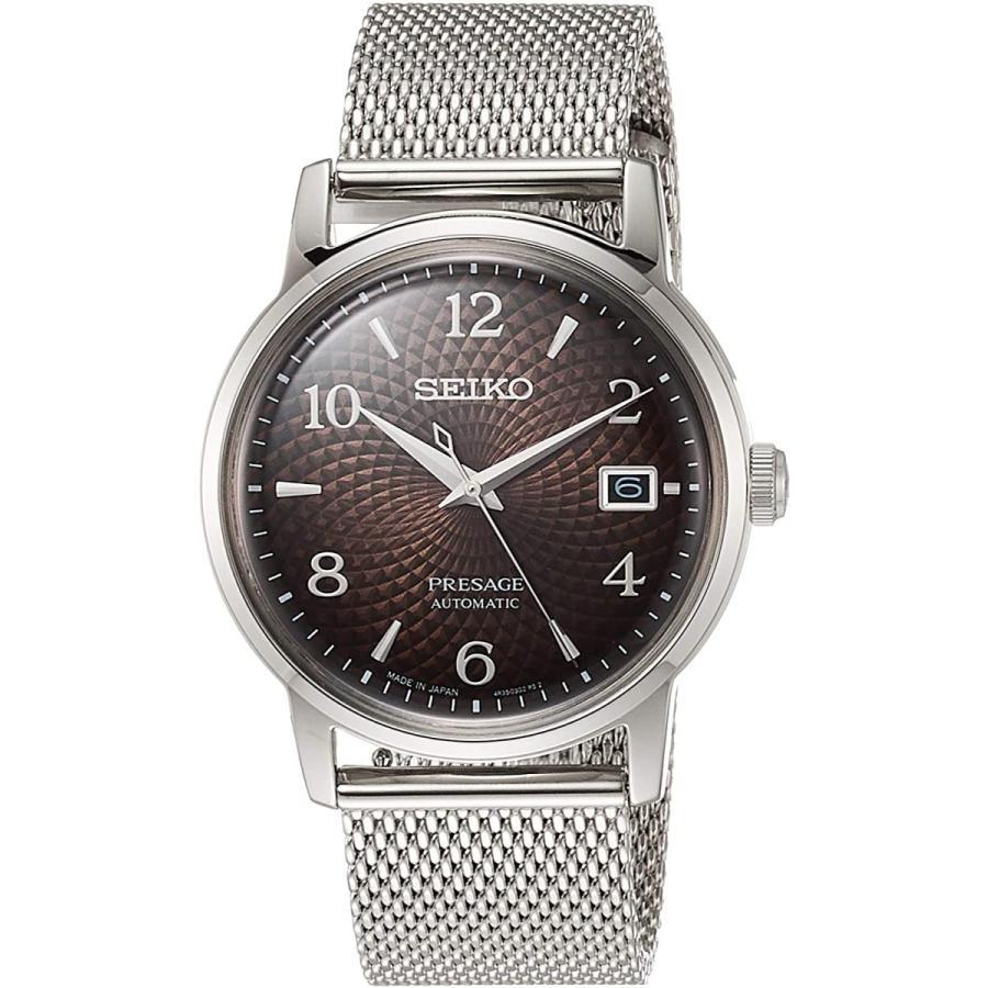 [セイコーウォッチ] 自動巻き腕時計 プレザージュ SARY179 メンズ シルバー